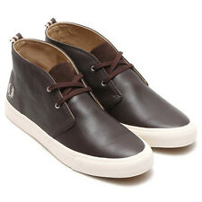 Fred Perry Men's Vernon Mid Leather Shoes Trainers B7447-325 - Brown
