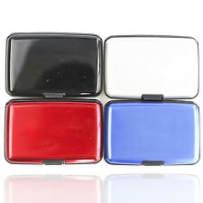 R Waterproof Business ID Credit Card Wallet Holder Aluminum Metal Pocket Case