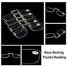 Pro Mini Nose Resting Pocket Reading Glasses Clip Strength 1.0 1.5 2.0 2.5 3.0