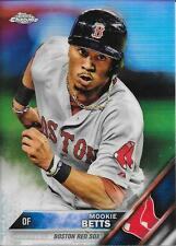 2016 Topps Chrome Refractor Mookie Betts #161 - Red Sox