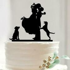 Mixed Acrylic Silhouette Bride and Groom Love Birds Wedding Cake Topper Party