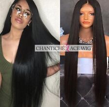 Women's Human Hair Lace Front Wigs 6A Indian Remy Silky Straight Full Lace Wigs