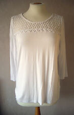 New GEORGE - size 8 & 12 - lovely WHITE lace detail TOP/ tunic - BNWoT