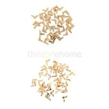 50pcs/pack Gold Folders Collar Corner Protectors for DIY Handmade Bowknot