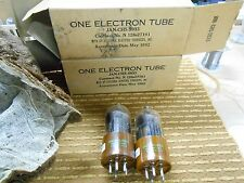 Sylvania Set of Two  NOS JAN CHS 5933 Vacuum Tubes Matched Strong 110% 108%