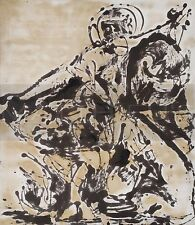 Jackson Pollock-Black And White Painting III, Canvas/Paper Print