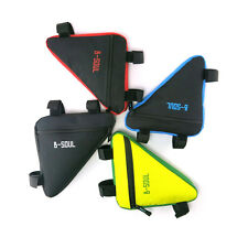 Riding Bike Bicycle Front Tube Triangle Tools Kit Bag Cycling Pouch Frame Holder