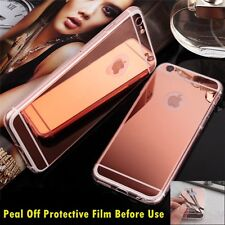 Luxury Ultra-thin TPU RoseGold Mirror Metal Case Cover for iPhone 5 5s {by226