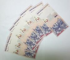 7 Malaysia $2 Two dollars Dua Ringgit 1996 1998 8th series, Consecutive nos. UNC