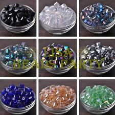 10~30pcs 10mm Big Cube Square Faceted Crystal Glass Loose Spacer Beads Findings