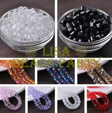 10~50pcs 8mm Cube Square Faceted Crystal Glass Loose Spacer Beads DIY Findings