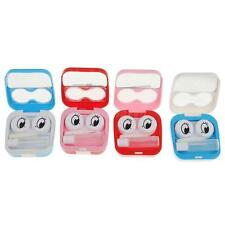 Smile Face Mini Contact Lens Case Container Eye Care Kit Set Holder Contact Lens