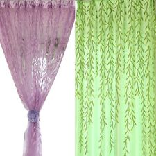 Modern Luxury Sheer Cortinas Curtains for Living Room Chic Room Willow Pattern V