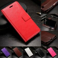 Leather Wallet Flip Stand Pouch Cover Skin Case For Huawei Y6 II 2 COMPACT