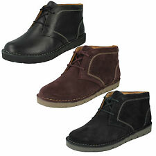 LADIES CLARKS UNSTRUCTURED FLAT LEATHER CASUAL ANKLE DESERT BOOTS UN ASTIN