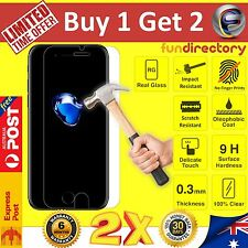2x GENUINE 9H Tempered Glass Screen Protector for Apple iPhone 7 6S 6 Plus SE 5S