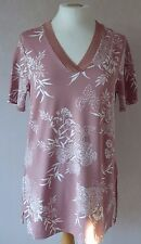 New M&S - size 8 - 22 - lovely PINK white floral print ladies TOP/ tunic - BNWoT
