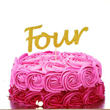 4th Birthday Cake Topper - Number Four Party Cake Topper Childrens Party Decor