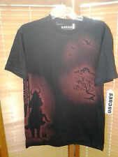 NEW! Sanbon Samurai Mens T-Shirt - Black & Red - UFC MMA Martial Arts Shirt