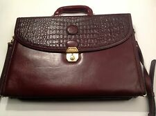 ALLIGATOR LEATHER WOMAN BRIEFCASE WINE