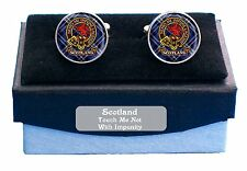 New Round Clan Crest Antique Finish Cufflinks (150 Clans To Choose From)