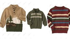 NWT Gymboree Boys Grizzly Lake Sweater Stripe fair isle half zip button 5-6