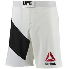 New Reebok UFC Fight Kit Octagon Fight Shorts - White/Black Crossfit