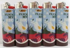 BIC FLICK MY BIC FULL SIZE LIGHTERS LOT OF 5, FAST FREE SHIPPING IN US & CANADA
