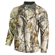 Realtree AP Camouflage Long Sleave Polo Shirt Hunting Sweater