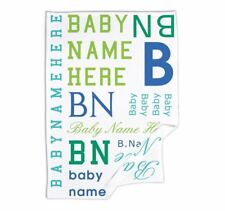 Name Typography 1 Personalised Baby Blanket Comforter Throw Shawl