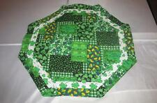Handmade Quilted Table Topper Octagon Valentines Day St Patricks Day hearts