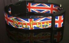 Dog Collar & Lead  Patriotic Union Jack Engand Scotland Wales Ireland - Add name