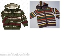 NWT Gymboree Grizzly Lake FAIR ISLE hooded cardigan christmas holiday sweater
