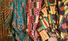 "3 YARDS OF AFRICAN PRINT FABRIC 100% COTTON 44"" WIDE"