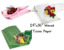 "FLORAL WAXED Tissue Paper Bouquet Wrapping 24""x36"" Large Sheets YOUR CHOICE!"