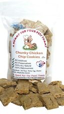 Homemade Dog Treats, Chicken Chip Cookies, Cookies With Pieces of Chicken Jerky