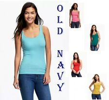 OLD NAVY Fitted Rib-Knit Tank Front & Back Scoop Neck New Tee XS S M L XL XXL