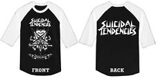 SUICIDAL TENDENCIES official 3/4 BASEBALL JERSEY POSSESSED Dogtown Punk Metal