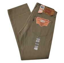 LEVIS MENS JEANS PANTS 501 SHRINK TO FIT ORIGINAL BUTTON-FLY KHAKI SHADE 501-208