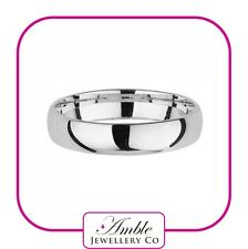 925 Sterling Silver 4mm Wedding Ring - Court Shape - Plain Band - FREE ENGRAVING