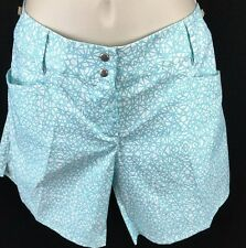WOMENS ADIDAS GOLF TENNIS SHORTS AQUA SIZE 10 NWT $70