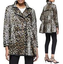 AUTH RED Valentino Skirted Heart-Leopard-Print Anorak Light Weight Jacket  $795