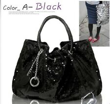 NEW KOREAN STYLE Hobo PU PARTY sequin spangle decorative tote shoulder Bag E20