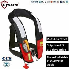 PFD Manual Inflatable Life Jacket Vest Eyson for Adult 150N