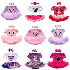 0-24 Months Baby Girls Romper Tutu Dress Outfits Party Minnie Mouse Costume