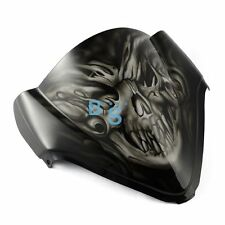 Airbrushed White Skull Windscreen Windshield For Kawasaki Fairing motorcycle