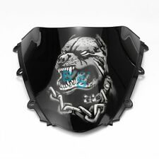 Airbrushed Bulldog Custom Windscreen Windshield Fit kawasaki Fairing motorcycle