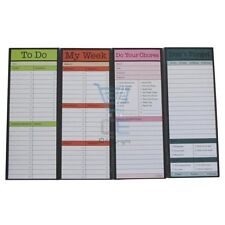 Magnetic Memo Pad 4 Types To Do, Don't Forget, My Week, Do Your Chores