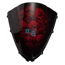 Airbrushed Red Skull Windscreen Windshield Fit Suzuki Fairing motorcycle BSE