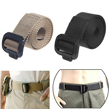 Army Style Nylon Buckle Military Belt Mens Womens Sports Web Canvas Wais Belt
